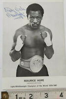 RARE MAURICE HOPE HAND SIGNED PROMOTION  PHOTO & COA - OFFERS ACCEPTED .