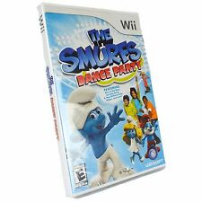 The Smurfs Dance Party NINTENDO WII Brand New Sealed in Package