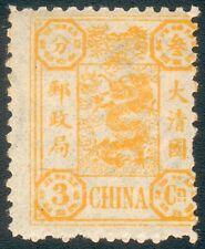 China Mi.-Nr.9a* Marke schmaler (MICHEL € 50,00+Zuschläge) feinst