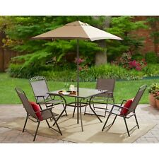 Mainstays Butler Heights 6 Piece Steel Sling Folding Set Patio Furniture Dining
