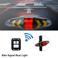 Bicycle Remote Control Wireless Bike Laser LED Tail Lamp Turn Signal Light AAA