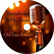 Broadway is My Beat Old Time Radio Shows OTR 169 Episodes on 1 MP3 DVD Free Ship