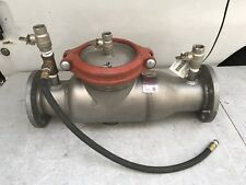 """Ames 3"""" 4000 SS LG  Stainless Steel Reduced Pressure Zone  Backflow Precentor"""