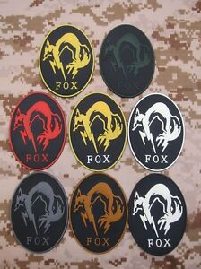 MGS Metal Gear Solid Ghost FOX  Morale tactics 3D PVC Patch
