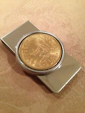 USA dollar coin EAGLE money clip (tails side of Sacajawea dollar coin)