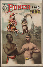 "1886 - antique Advertisement, poster, Plug TOBACCO, Boxing, 20""x12"" Art Print"
