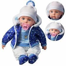 "Defective 20"" Lifelike Large Size Soft Bodied Boy Baby Doll With Dummy & Sounds"