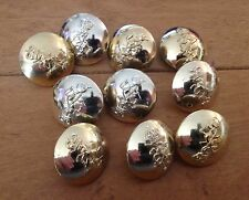 10 x British Army Royal Signal Corps 20mm Stay-bright tunic buttons