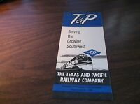MARCH 1959 TEXAS AND PACIFIC RAILWAY SYSTEM PUBLIC TIMETABLE MISSOURI PACIFIC