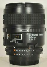 Nikon AF Micro-Nikkor 60mm f2.8 D Autofocus Lens for F Mount