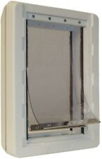Pet Dog Door with Dual Flaps 9.75 In. X 17 In. Extra Large Ruff Weather Frame