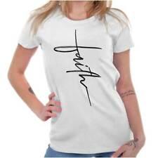 Ladies Faith Christian Religious Fashion Cross God Gift Ladies T Shirt For Women