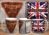 Retro Vintage Triumph Motorcycle Oil Can Mug ,british,bike,mechanic,vintage