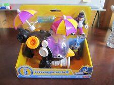 Imaginext DC Super Friends Penguin Copter BONUS Batman 2015 Helicopter Umbrella