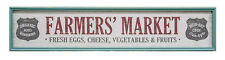 "Framed FARMER'S MARKET SIGN -FRESH EGGS- CHEESE- Rustic Country Cottage  9""X42"""