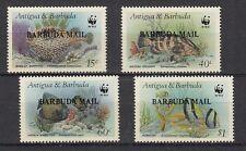 D. Fische  Meerestiere  Barbuda Mail  953 - 56  WWF  **  (mnh)