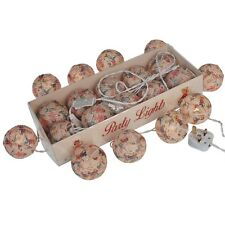 dotcomgiftshop STRING OF 10 VINTAGE KIDS PARTY LIGHTS WITH BS 3 PIN PLUG