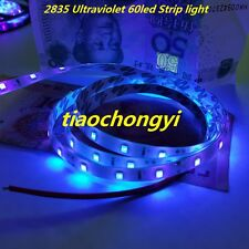 1m DC12V 2835 395-405nm UV Ultraviolet waterproof 60led Strip black tape light