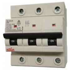 80AMP - 3 Pole 10ka MCB - Circuit Breaker (27mm Width) - D Curve Free Shipping