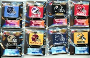 2020 NFL Playoffs Division Champion Dangle Pins LV Pin Choice Super Bowl 55
