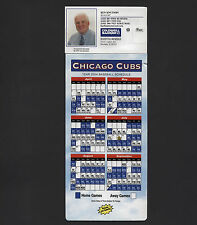 "2004 Chicago Cubs Schedule Advertising Magnet Calendar 9"" x 3 1/2"""