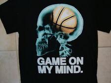 Game on my Mind Basketball Brain X-Ray Soft Black T Shirt S