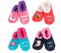 Ladies Slippers Snoozies! Creature Comforts Slippers Llama Bee Owl Flamingo