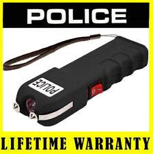 POLICE Stun Gun 928 Black 78 BV Rechargeable With LED Flashlight + Taser Case
