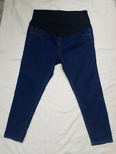 Maternity Jeans Trousers size 20 blue over bump GEORGE denim