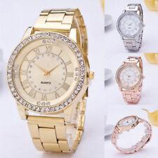 NEUE Luxus Damenuhr Casual Uhren Kristall Edelstahl Mode Quarz Armbanduhren Gift