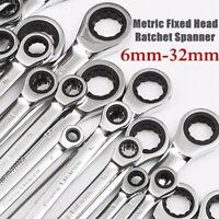 Clé à molette à cliquet à tête fixe métrique en acier 6mm-1.FR