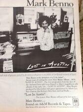 N1-3 Ephemera 1979 Advert Pop Singer Mark Be no Lost In Austin