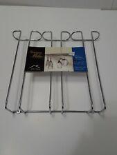 Wine Glass Rack Under Cabinet Chrome Stemware Holder Holds 9 Stemmed Glasses