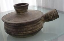 """STUDIO POTTER ANNE STANNARD LIDDED COOKING POT W 8"""" x 4 1/2"""" to top of lid"""
