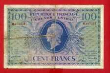 (Ref: PL 987)  100 FRANCS MARIANNE TRÉSOR CENTRAL1943 (TB+) RARE
