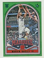 2018-19 Panini Chronicles MARQUEE GREEN FOIL #237 MARVIN BAGLEY III RC Rookie