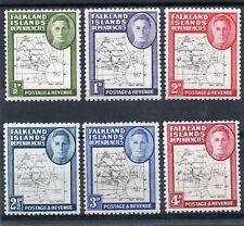 Falklands Dependencies GV1 1948 Thin Map s/set to 4d. sg G9-13 HH.Mint