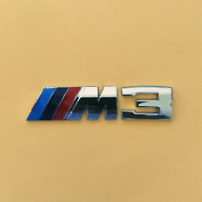 BMW Performance M3 Power W: 85mm x H: 20mm Emblem Badge Decal Aluminium Chrome