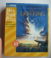 Lion King Movie Poster Jigsaw Puzzle Disney Golden 300 Piece Vintage Complete