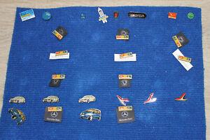 Sammlung Pins / Anstecknadeln über 100 Stück - zumeist Auto - Motive