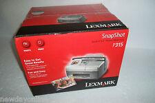 "Lexmark P315 Snapshot Photo Inkjet Printer 2.5"" Screen 4""x6"" 1200dpi 20C0000 NEW"