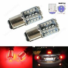 2pcs BAW15d 567 PR21/5W LED Bulb 40 SMD Tail Stop Brake Rear Fog Light Lamps Red