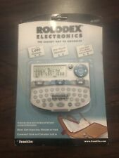 New Rolodex Electronic Organizer File E-Z Easy File System RK 8201 By Franklin