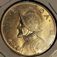 Uncirculated 1947 Panama ONE (AV) Balboa Silver World Coin Bullion .900 Silver