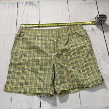 Beach Rays Men Swim Trunks Board Shorts Size Medium Plaid Beach Shorts - C48