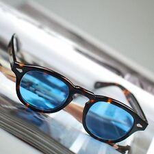 Vintage Johnny Depp sunglasses tortoise frame blue lense strong hinge mens frame