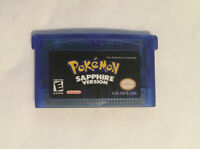 Pokemon Sapphire Version GBA Gameboy Advance Reproduction Sapphire