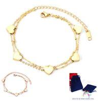 Herz Armband Edelstahl Gelbgold Rosegold plattiert Damen ❤️ Geschenke für Frauen