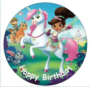 """NELLA THE PRINCESS KNIGHT  7.5"""" ICING Cake Topper different sizes available"""
