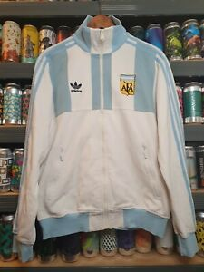 Adidas Argentina Mens Medium Tracksuit Jacket Track Top Vintage Retro Rare